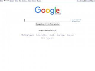 google.ca screenshot
