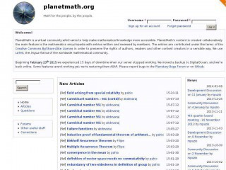planetmath.org screenshot